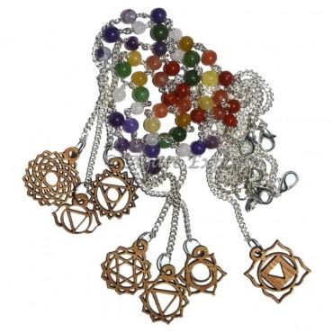 7 Chakra Symbols Pendulum Chains Set Chakra Pendulum