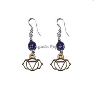 Third Eye Chakra Symbol Earring Gemstone Earrings