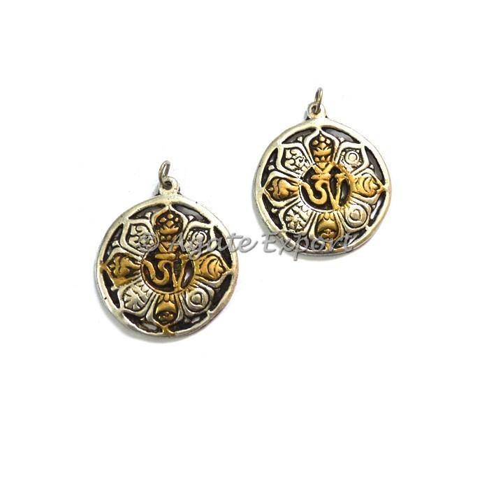 Brass Tibetan Buddhist Symbols Om Pendants Wholesale Supplier